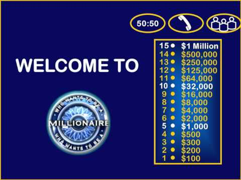 Who wants to be a millionaire powerpoint game youtube for Who want to be a millionaire template powerpoint with sound