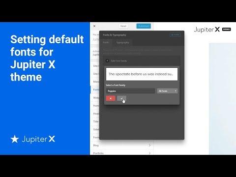 Setting default fonts for Jupiter X theme