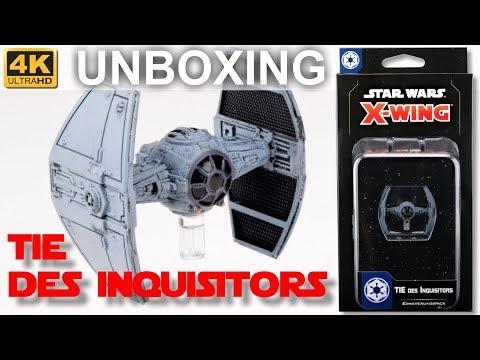 Star Wars X-Wing 2. Edition: TIE Des Inquisitors - WELLE 5 - Unboxing - Inquisitors' TIE (4K)