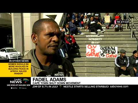 Members Of Cape Town's Shutdown Movement Demand Houses