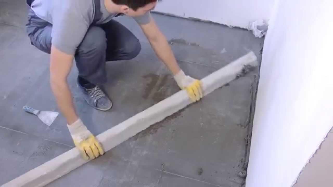 Как сделать стяжку пола под плитку своими руками