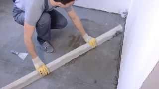 видео Стяжка пола. Все ключевые моменты того, как правильно сделать - Строительство дома с нуля. Выпуск 19