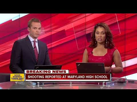 Shooting reported at high school in Maryland