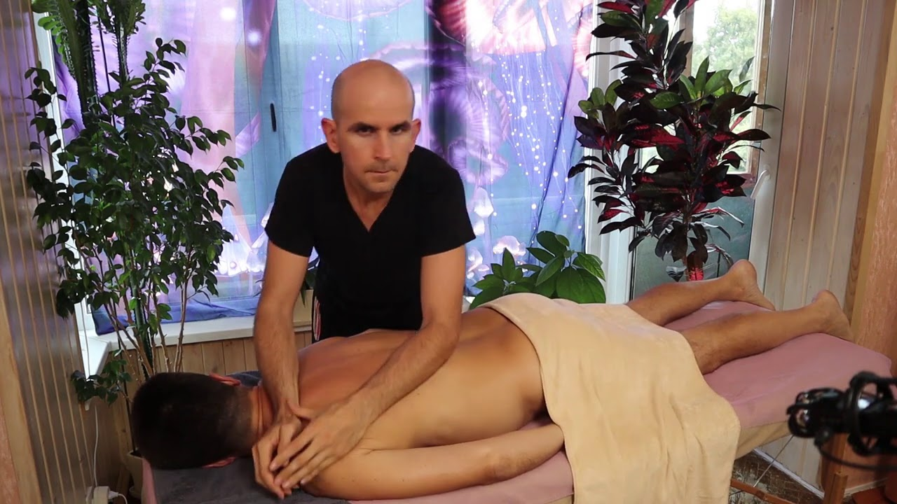 ASMR. Muscular wellness (therapeutic) massage