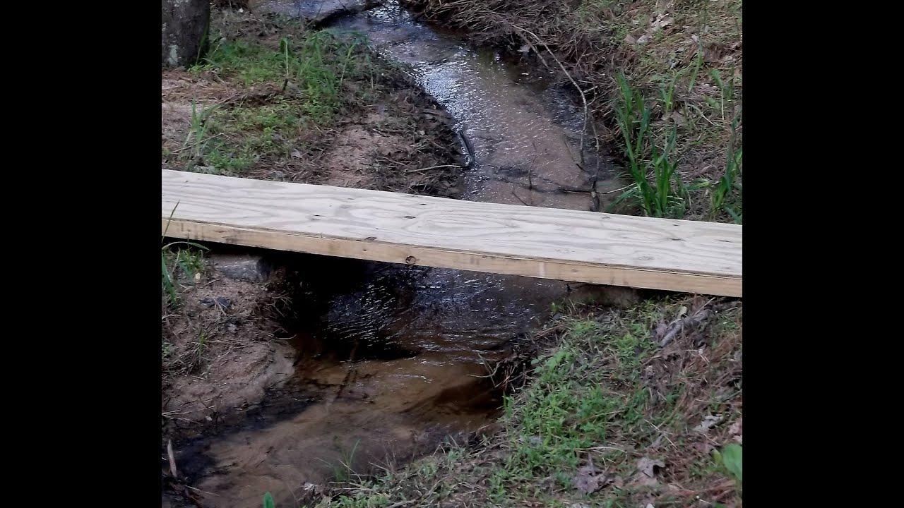 how to make a simple footbridge