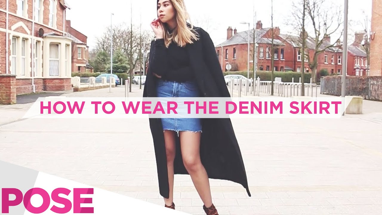 How To Wear The Denim Skirt Day And Night High Street Edit 3