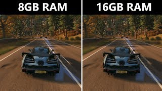 Forza Horizon 4 8GB RAM vs 16GB RAM