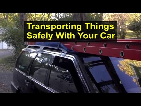 Securing Things To The Top Of Your Vehicle For Transportation Or Delivery. - VOTD
