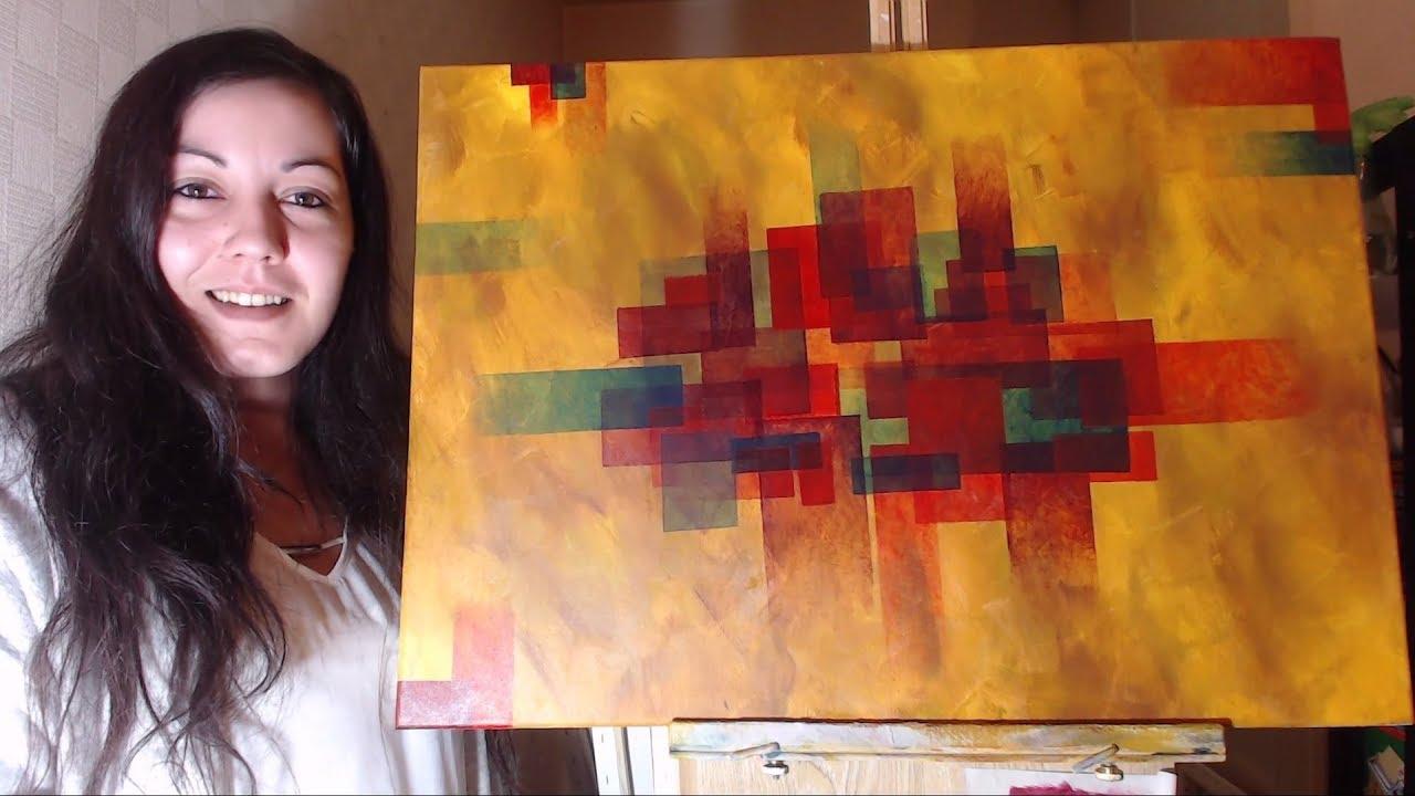Peinture Acrylique Abstraite Facile Youtube