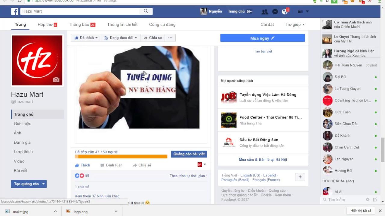 Hướng dẫn cách tuyển dụng nhân viên bán hàng siêu thị hiệu quả bằng chạy quảng cáo Facebook