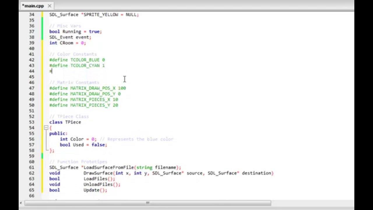Writing a Tetris in C++ - Speed Coding
