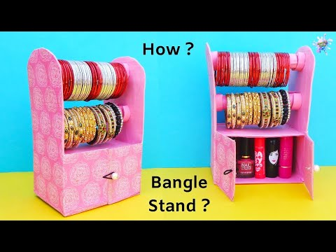 Bangle Stand making at Home with waste Shoe Box | Best out of waste