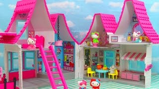 HELLO KITTY DOLLHOUSE NEW Toys Review | itsplaytime612