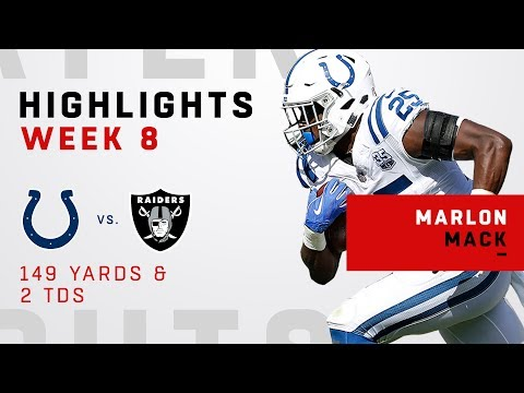Marlon Mack's Massive Game w/ 149 Yards & 2 TDs
