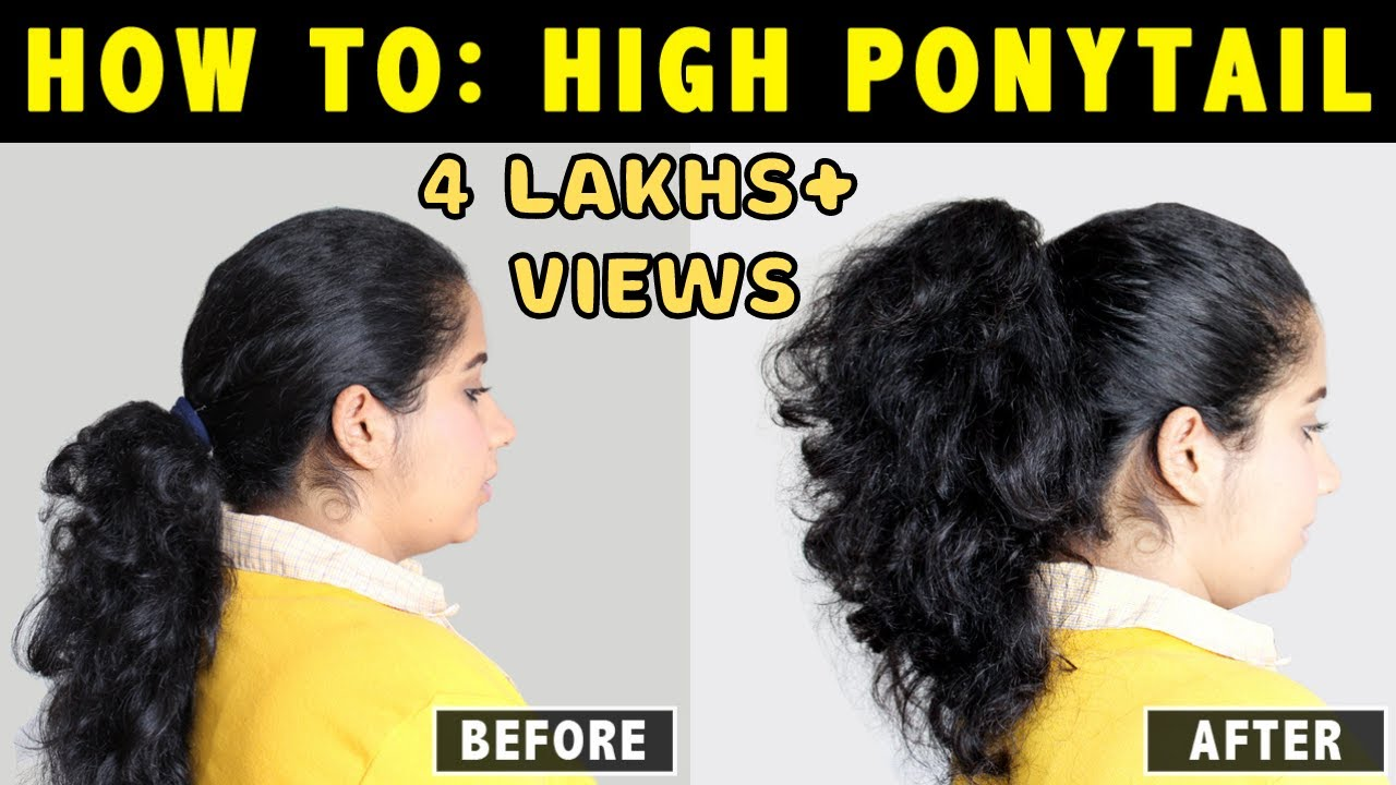 how to stop frizzy hair in a ponytail