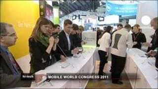 euronews hi-tech - معرض الهاتف الجوال في برشلونة