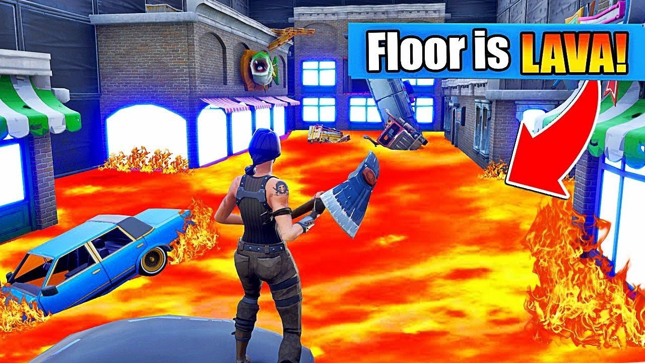 The Floor Is Lava Sur Fortnite Youtube