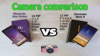Camera comparison Samsung Note 9 VS Motorola One Vision | Standard and Night Mode