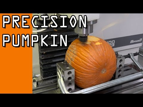 Precision Machining a Pumpkin  WW117