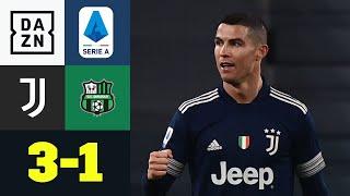 Ronaldo-Tor besiegelt Juve-Sieg: Juventus - Sassuolo 3:1 | Serie A | DAZN Highlights