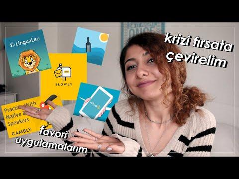 Karantinada Sosyalleşmek Ve İngilizce Öğrenmek İçin Uygulamalar! 📱 #EvdeKal #Benimle