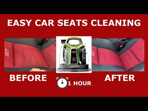 best REVIEW: cleaning car seats upholstery with BISSELL pro heat
