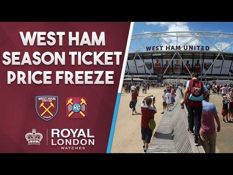 West Ham Utd Announce Season Ticket Price Freeze