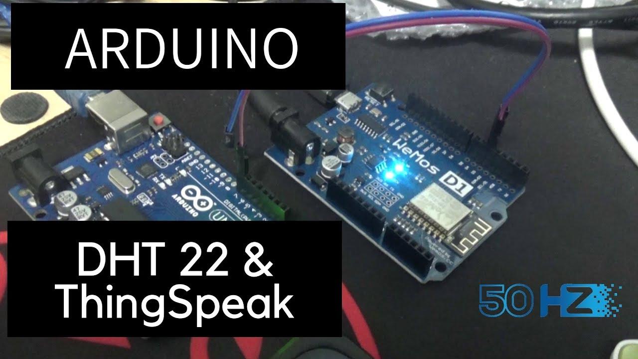Arduino WeMos D1, DHT22 & ThingSpeak