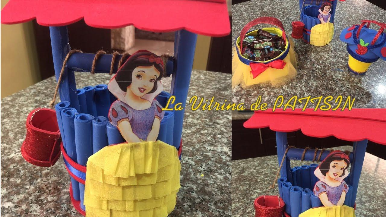 Centro de mesa blancanieves f cil easy centerpiece snow - Mesa de centro blanca ...