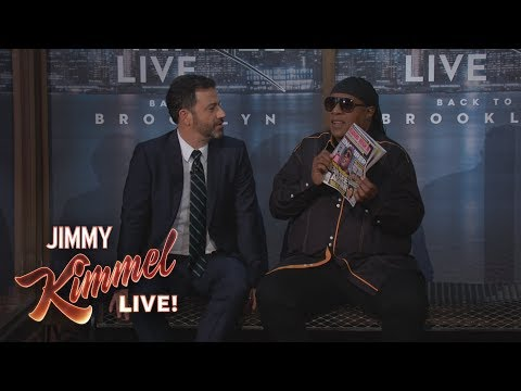 Stevie Wonder Surprises Kimmel Audience