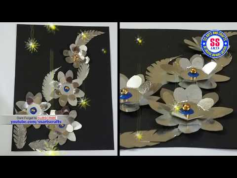 Aluminium packing covers crafts |Best out of waste |Foil paper wall decor| ssarts crafts