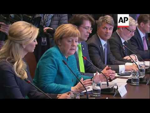 Trump And Merkel Discuss Vocational Training