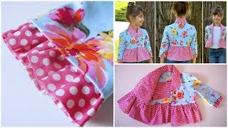 Learn how to sew a ruffle hem, sleeve, insert a sleeve, plain sleeve, how to sew a bolero jacket