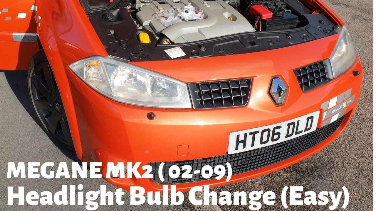 Renault Megane MK2 Headlight Bulb Change - VERY EASY 5 MINUTE BULB  REPLACEMENT