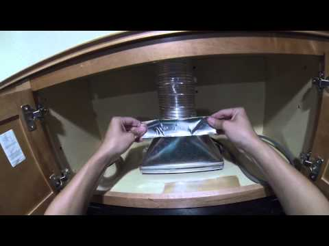 How to install a microwave hood with exhaust fan diy - How to vent a microwave on an interior wall ...