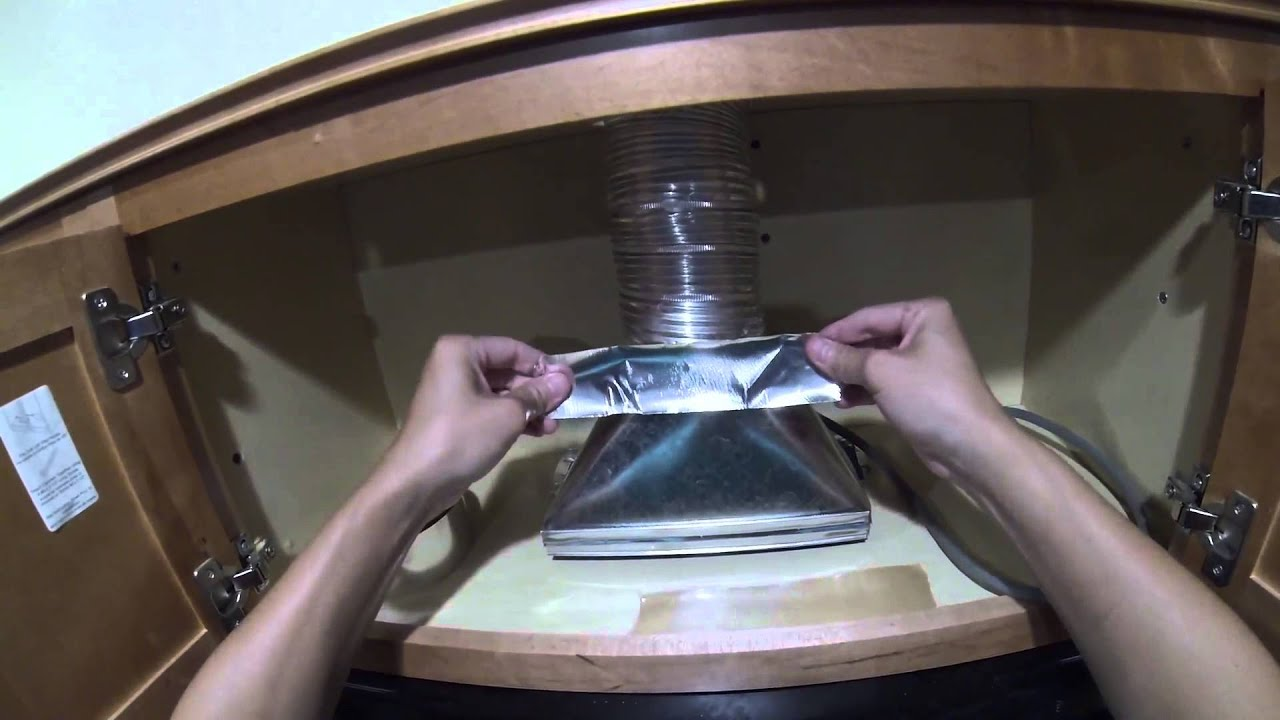 how to install a microwave hood with exhaust fan diy