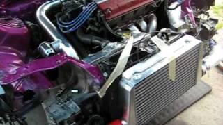 ef sedan ls vtec turbo intercooler setup