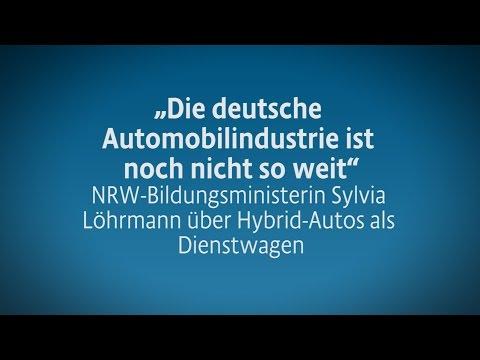 """""""Deutsche Automobilindustrie ist noch nicht so weit"""" Sylvia Löhrmann, NRW-Bildungsministerin"""