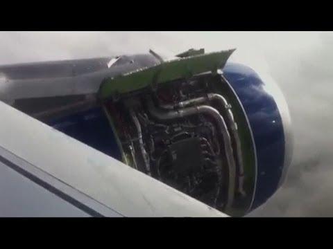 Heathrow plane 'fire': Passenger video shows landing and evacuation