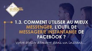 1.3. Comment utiliser au mieux Messenger, l'outil de messagerie instantanée de Facebook ?