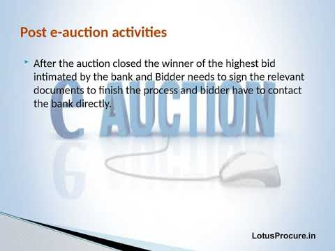Understanding of e-Auction for Beginners