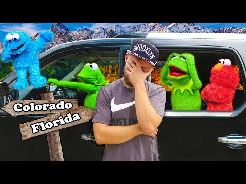 Kermit the Frog, Elmo, and Cookie Monster's Road Trip to Colorado!