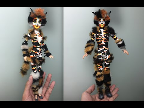 How to make a Mungojerrie and Rumpleteazer doll - CATS musical - Stop motion Face-up dolls