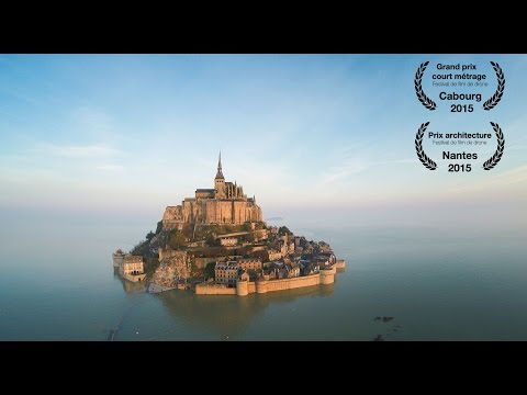 Mont Saint-Michel Beautifully Viewed from a Drone