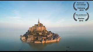 Mont Saint Michel Castle from a drone.