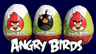 Angry Birds Toys Huevos-Sorpresa Bad Piggies Chocolate Surprise Eggs Unboxing by Fun Toys Collector