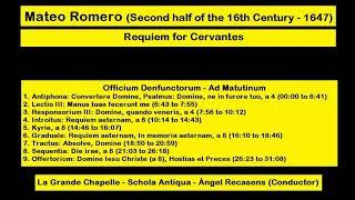 Mateo Romero (Second half of the 16th Century - 1647) - Requiem for Cervantes