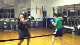 Newport Boxfit - Pad work with Jesse
