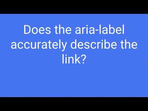 Aria label link