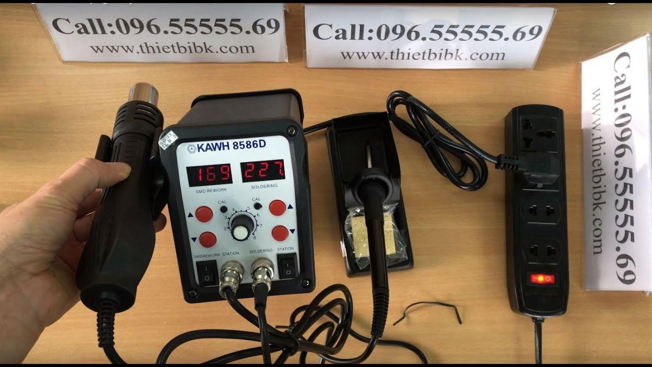 Hướng dẫn sử dụng Máy khò và hàn thiếc KAWH SMD 8586D